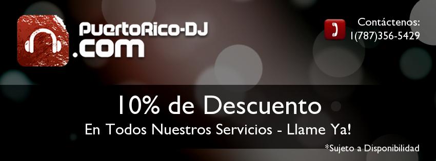 10 Descuento Puerto Rico DJ