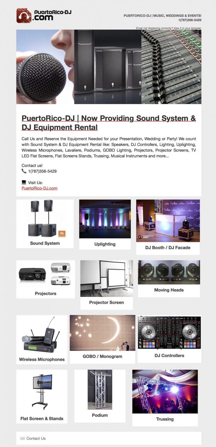 Sound System Rental Puerto Rico | Audio Visual Rental Puerto Rico