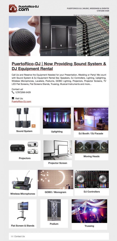 Sound System Rental Puerto Rico | Audio Visual Rental Puerto Rico