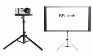 Projector + Small Screen Rental